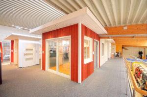 Blick in die Bauelemente-Ausstellung