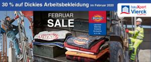30% Februar Sale auf Dickies Arbeitsbekleidung