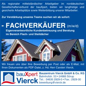 Stellenanzeige Fachverkäufer für Dachbaustoffe