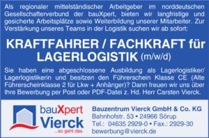 Kraftfahrer / Fachkraft für Lagerlogistik (m/w/d)