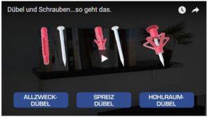 Video Dübel und Schrauben
