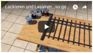 Video Lackieren und Lasieren