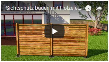Video Sichtschutz bauen mit Holzelementen