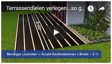Video Terrassendielen verlegen