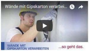 Video Wände Gipskarton