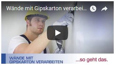 Video Wände Gipskarton