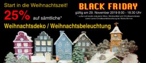 Black Friday, 25% auf Weihnachsdekorationen und Weihnachtsbeleuchtung